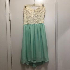 Dresses & Skirts - White Lace and Mint Blue Green Dress